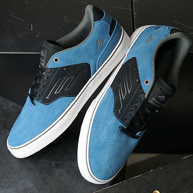 エメリカ Emerica スニーカー レイノルズ ロー バルカ REYNOLDS LOW VULC (FW19) メンズ・レディース スケートボーディング スケボー シューズ 靴 BLUE/BLACK/WHITE ブルー系【ts】【e】