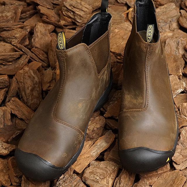 キーン KEEN サイドゴアブーツ デトロイト スリップ M DETROIT SLIP (1013264 FW18) メンズ 防水 キャンプ アウトドア 靴 CASCADE BROWN ブラウン系【ts】