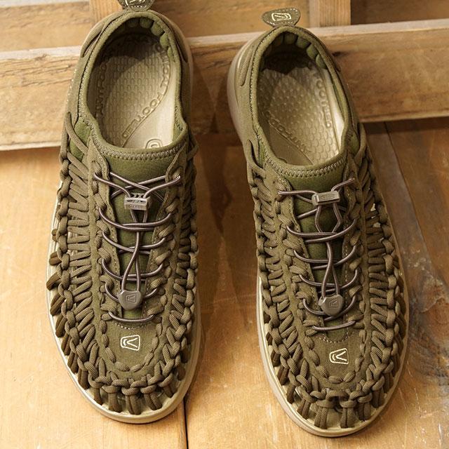 キーン KEEN スニーカー ユニーク オーツー M UNEEK O2 (1018714 SS18) メンズ スポーツサンダル キャンプ アウトドア 靴 DARK OLIVE/ANTIQUE BRONZE カーキ系【ts】【e】