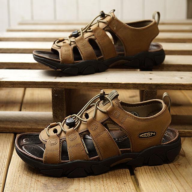 キーン KEEN サンダル デイトナ M DAYTONA (1008431 SS19) メンズ レザーサンダル キャンプ アウトドア 靴 TIMBERWOLF ブラウン系【ts】【e】