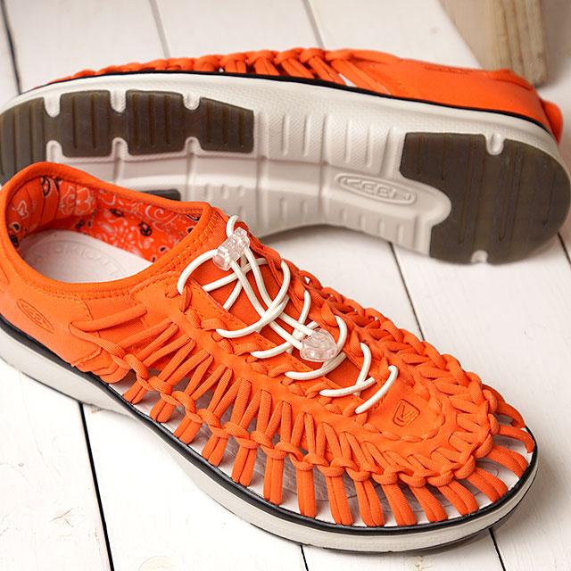 キーン KEEN スニーカー ユニーク オーツー M UNEEK O2 (1020813 SS19) メンズ スポーツサンダル キャンプ アウトドア 靴 TANGO RED/WHITE オレンジ系【ts】【e】