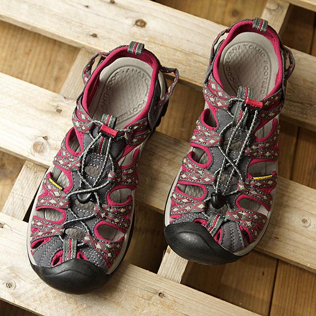 キーン KEEN サンダル ウィスパー W WHISPER (1014204 SS18) レディース スポーツサンダル キャンプ アウトドア 靴 MAGNET/SANGRIA ピンク系【ts】【e】