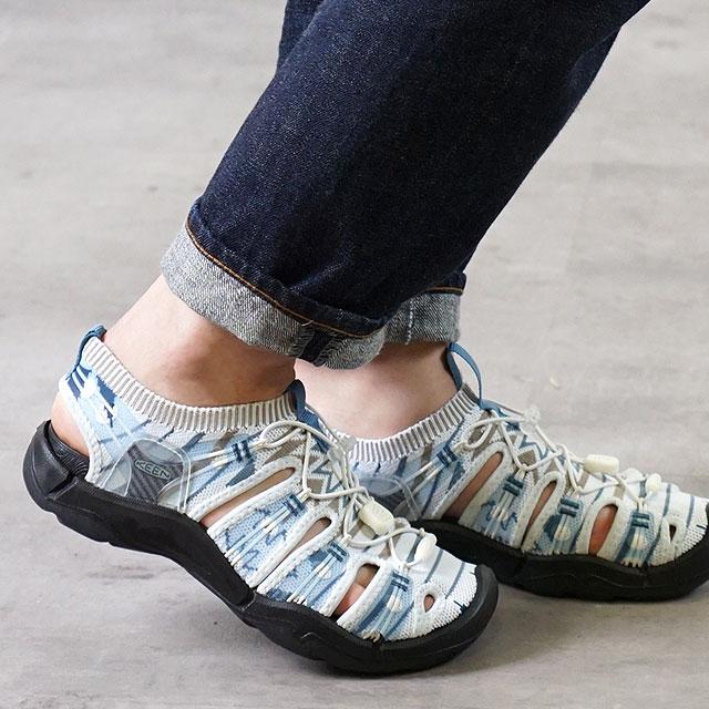 【月間優良ショップ】キーン KEEN サンダル エヴォフィットワン W EVOFIT 1 (1021401 SS19) レディース スポーツサンダル キャンプ アウトドア 靴 GRAYISH WHITE/BLACK グレー系【ts】【e】