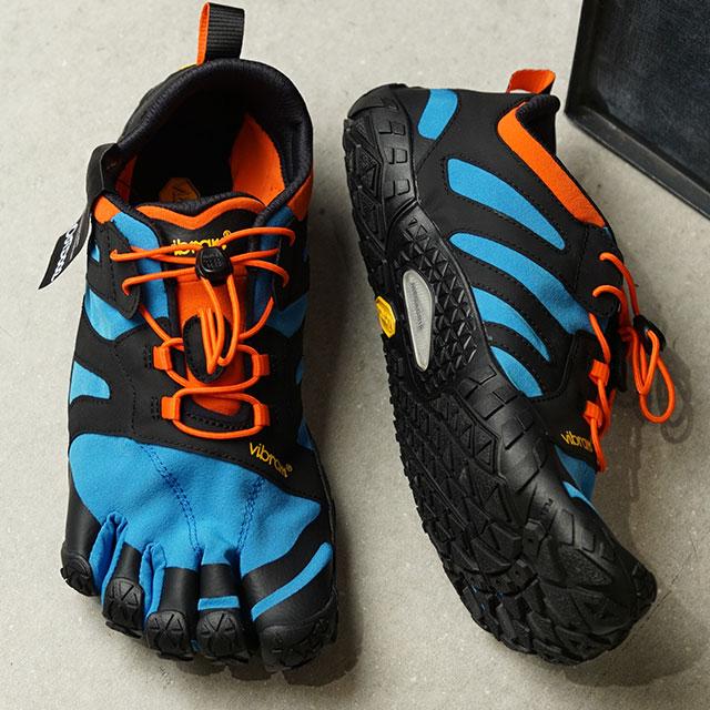 ビブラムファイブフィンガーズ Vibram FiveFingers 5本指シューズ トレイルランニング用 V-Trail 2.0 (19M7603 SS20) メンズ ベアフットスニーカー 靴 青/オレンジ グリーン系