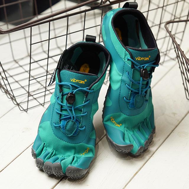 【月間優良ショップ】ビブラムファイブフィンガーズ Vibram FiveFingers 5本指シューズ V-ALPHA (19W7102 SS20) レディース ベアフットスニーカー 靴 Teal/Blue グリーン系