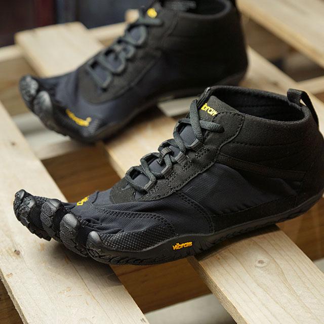 ビブラムファイブフィンガーズ Vibram FiveFingers 5本指シューズ ハイキング トレッキング用 V-TREK (19M7401 SS20) メンズ ベアフットスニーカー 靴 Black / Black ブラック系