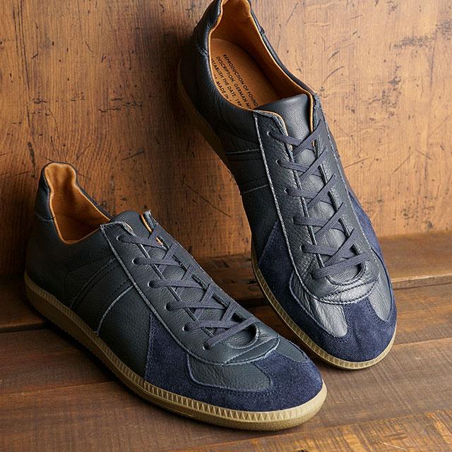 【月間優良ショップ】リプロダクション オブ ファウンド REPRODUCTION OF FOUND ジャーマントレーナー GERMAN MILITARY TRAINER メンズ・レディース ミリタリースニーカー 靴 NAVY ネイビー系 (1700L SS20)