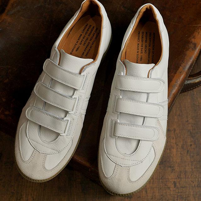 リプロダクション オブ ファウンド REPRODUCTION OF FOUND ジャーマントレーナー ベルクロ GERMAN MILITARY TRAINER VELCRO メンズ・レディース ミリタリースニーカー 靴 WHITE ホワイト系 (1703LD SS20)
