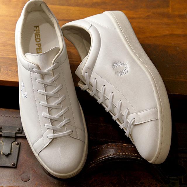 【月間優良ショップ】フレッドペリー FRED PERRY スニーカー ブロー BREAUX (F29649-10 SS20) メンズ・レディース ローカット 靴 WHITE ホワイト系