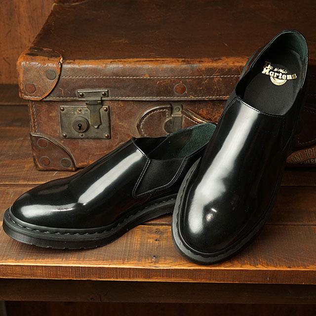 【月間優良ショップ】ドクターマーチン Dr.Martens サイドゴア ルイス LOUISE (24941001 SS20) メンズ・レディース ローブーツ チェルシー スリッポン シューズ 靴 Black High Shine Polished Smooth ブラック系