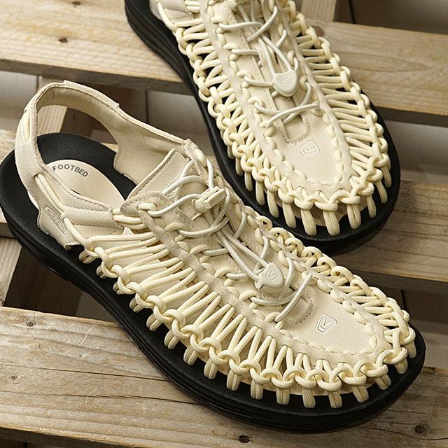 【月間優良ショップ】KEEN キーン サンダル ユニーク M UNEEK (1023045 SS20) メンズ アウトドア スニーカー 靴 Birch/Black ホワイト系