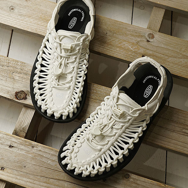 【月間優良ショップ】KEEN キーン サンダル ユニーク W UNEEK (1023170 SS20) レディース アウトドア スニーカー 靴 Star White/Black ホワイト系