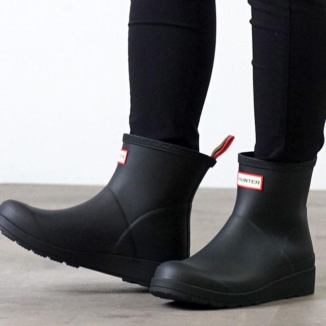 【月間優良ショップ】ハンター HUNTER レインブーツ オリジナル プレイ ブーツ ショート W ORIGINAL PLAY BOOT SHORT (WFS2020RMA-BLK SS20) レディース 長靴 ショートブーツ BLACK ブラック系