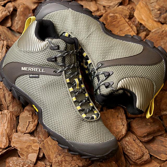 メレル MERRELL スニーカー カメレオン8 ストーム ミッド ゴアテックス M CHAMELEON 8 STORM MID GORE-TEX (034091 SS20) メンズ アウトドア トレッキングシューズ ハイキング 靴 LICHEN カーキ系