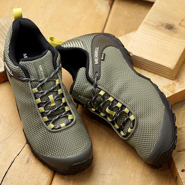 メレル MERRELL スニーカー カメレオン8 ストーム ゴアテックス M CHAMELEON 8 STORM GORE-TEX (033671 SS20) メンズ アウトドア トレッキングシューズ ハイキング 靴 LICHEN カーキ系