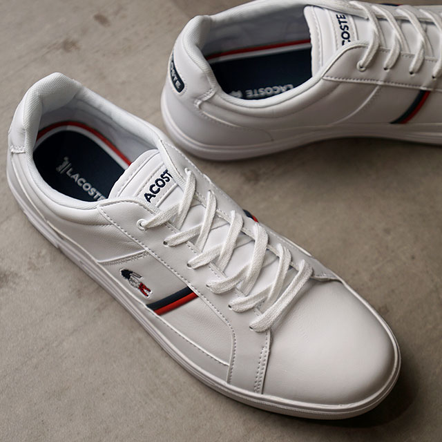 ラコステ LACOSTE メンズ ヨーロッパ M EUROPA TRI 1 スニーカー 靴 WHT/NVY/RED ホワイト系 (SMA031L-407 SS20)