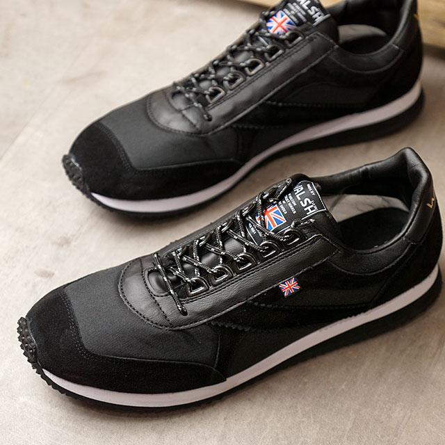 ウォルシュ WALSH ボイジャー OG Voyager OG メンズ・レディース 英国製 復刻 スニーカー 靴 BLACK ブラック系 (VOY50025 SS20)