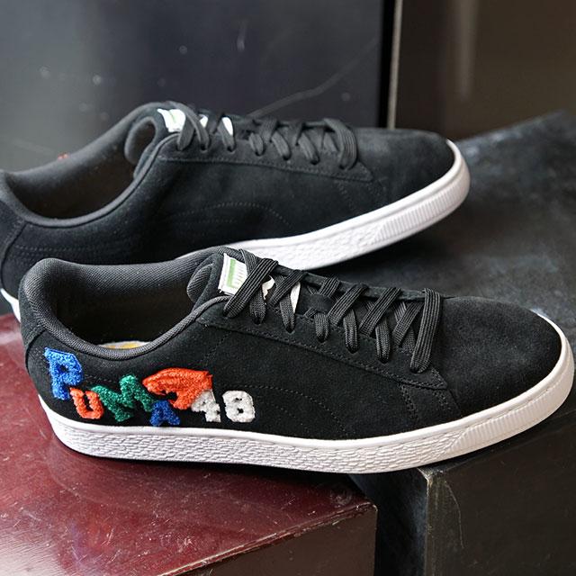 プーマ PUMA スニーカー スウェードクラッシック バッジ SUEDE CLASSIC BADGE (371580-01 SS20) メンズ・レディース スエード ローカット 靴 プーマブラック ブラック系【ts】