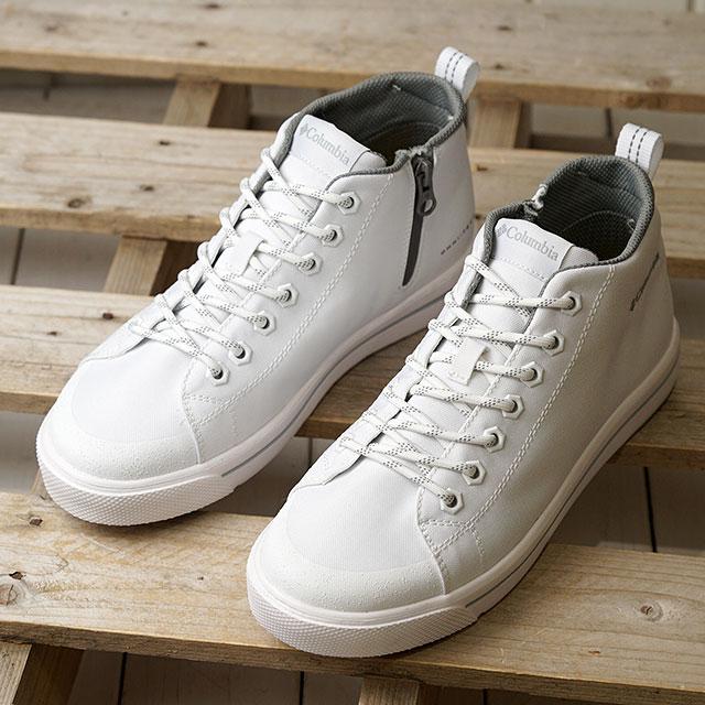 コロンビア Columbia 防水スニーカー ホーソンレイン2 アドバンス オムニテック HAWTHORNE RAIN II ADVANCE OMNI-TECH (YU0314-100 SS20) メンズ・レディース ハイカット レインシューズ 靴 White ホワイト系【ts】