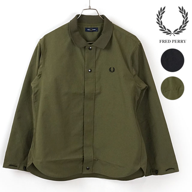 【月間優良ショップ】フレッドペリー FRED PERRY メンズ トップス シャツジャケット SHIRT JACKET (F4550 SS20) 長袖 ストレッチ素材