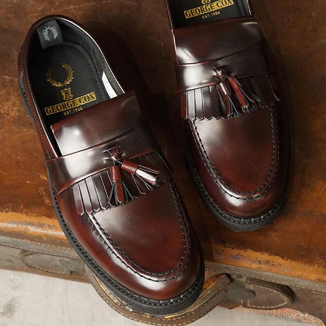 【コラボ】フレッドペリー FRED PERRY ローファー ジョージコックス タッセルローファー FP×GEORGE COX TASSEL LOAFER (B9278-158 SU20) メンズ・レディース 革靴 OX BLOOD バーガンディー系