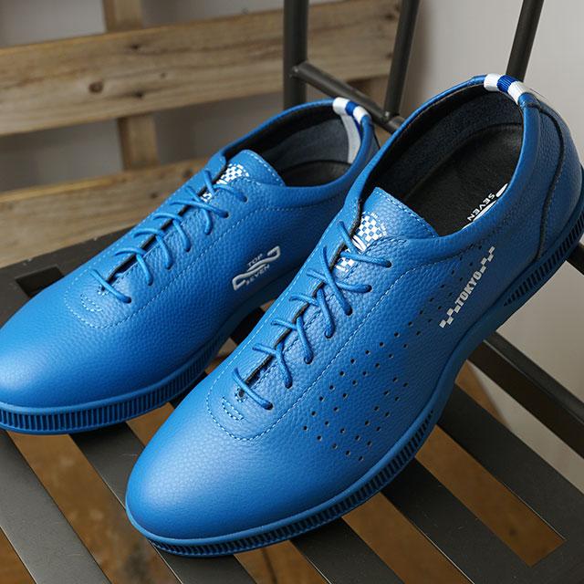 【月間優良ショップ】トップセブン TOP SEVEN スニーカー トーキョー コレクション TS-0704 TOKYO (TS-0704 SS20) メンズ 東京 レザー シューズ 靴 BLUE ブルー系