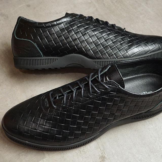 【月間優良ショップ】トップセブン TOP SEVEN スニーカー ラグジュアリー コレクション TS-260 WV (TS-260 SS20) メンズ ウーブン型押し レザー シューズ 靴 BLACK ブラック系