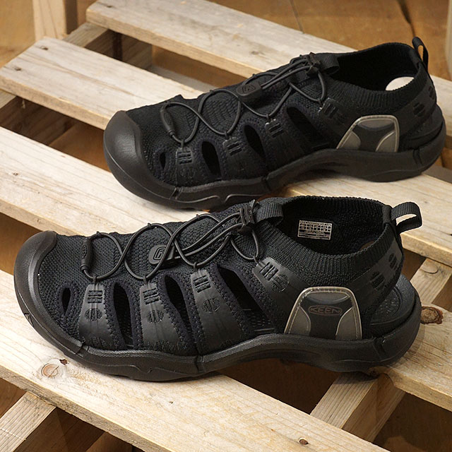 【月間優良ショップ】キーン KEEN サンダル エヴォフィット ワン M EVOFIT 1 (1023137 SS20) メンズ ニットスニーカー Triple Black ブラック系