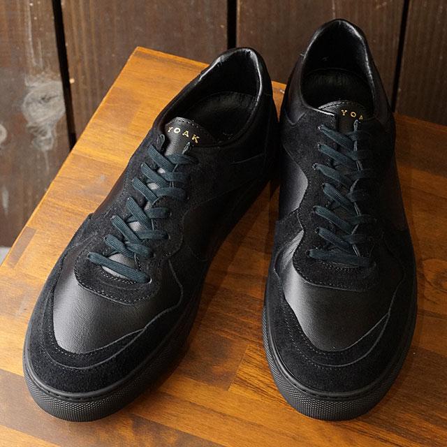【月間優良ショップ】ヨーク YOAK 国産スニーカー ユリス ULYSE ( SS20) メンズ 日本製 レザーシューズ 靴 BLACK/BLACK ブラック系