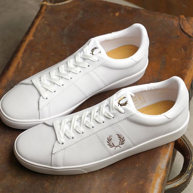 【月間優良ショップ】フレッドペリー FRED PERRY スニーカー スペンサー レザー SPENCER LEATHER メンズ・レディース 靴 WHITE/1964 ホワイト系 (B8250-200 SS20)