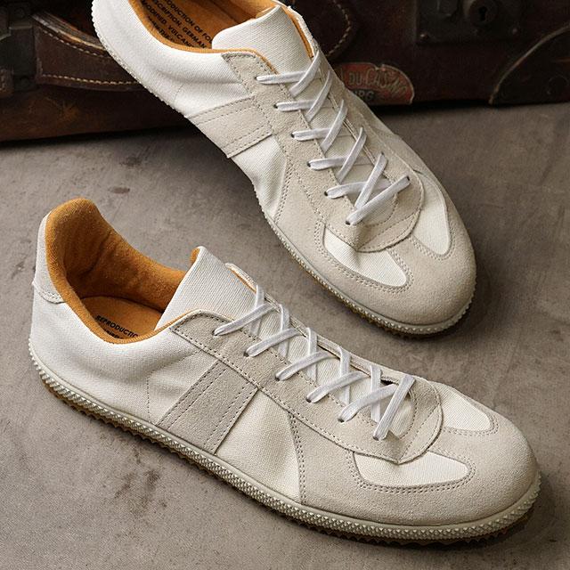 【月間優良ショップ】リプロダクション オブ ファウンド REPRODUCTION OF FOUND ジャーマントレーナー キャンバス GERMAN MILITARY TRAINER CANVAS メンズ・レディース ミリタリースニーカー 靴 WHITE ホワイト系 (1720FS SS20)