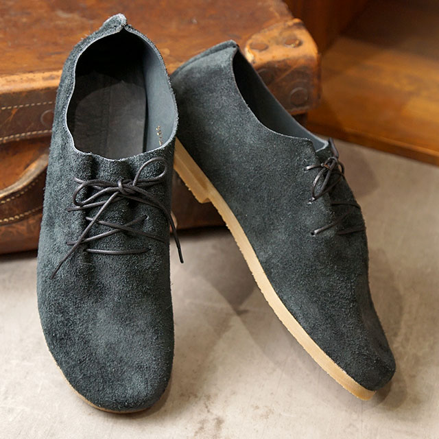 児島シューメーカーズ KOJIMA SHOE MAKERS 国産 ベロアレザーシューズ キートン KEATON (KSM-01 SS20) メンズ 日本製 ホールカットデザイン オックスフォード 靴 ブラックグレー ブラック系