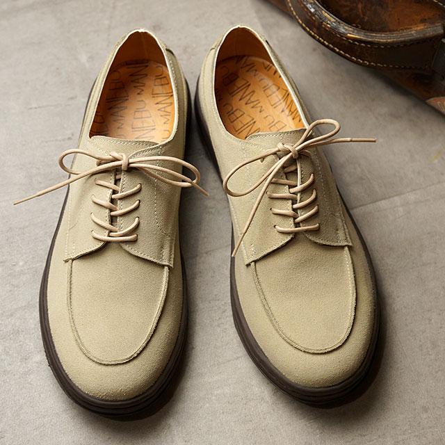 マネブ MANEBU スエードレザーシューズ SYAVO SUEDE (MNB-035S SS20) メンズ Uチップ 靴 SAND ベージュ系
