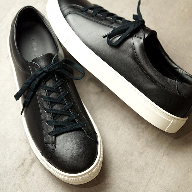 【月間優良ショップ】ヨーク YOAK 国産スニーカー スタンレー STANLEY ( SS20) メンズ 日本製 レザーシューズ 靴 BLACK2 ブラック系