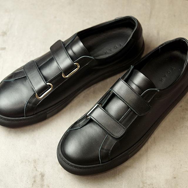 【月間優良ショップ】ヨーク YOAK 国産スニーカー ルーク LUKE ( SS20) メンズ 日本製 ベルクロ レザーシューズ 靴 BLACK ブラック系