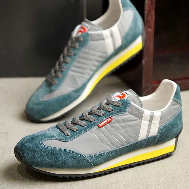 【月間優良ショップ】【返品送料無料】パトリック PATRICK スニーカー マラソン MARATHON (942004 SS20) メンズ・レディース 日本製 靴 CANOE グレー系