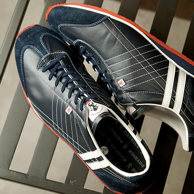 【返品送料無料】パトリック PATRICK スニーカー アイリス IRIS (232012 SS20) メンズ・レディース カンガルーレザー 日本製 靴 NV/RD ネイビー系