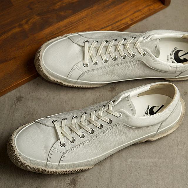【月間優良ショップ】【返品送料無料】スピングルムーブ SPINGLE MOVE スニーカー カウレザー SPM-277 (SPM277-61 SS20) メンズ・レディース スピングル ムーヴ 日本製 靴 White ホワイト系