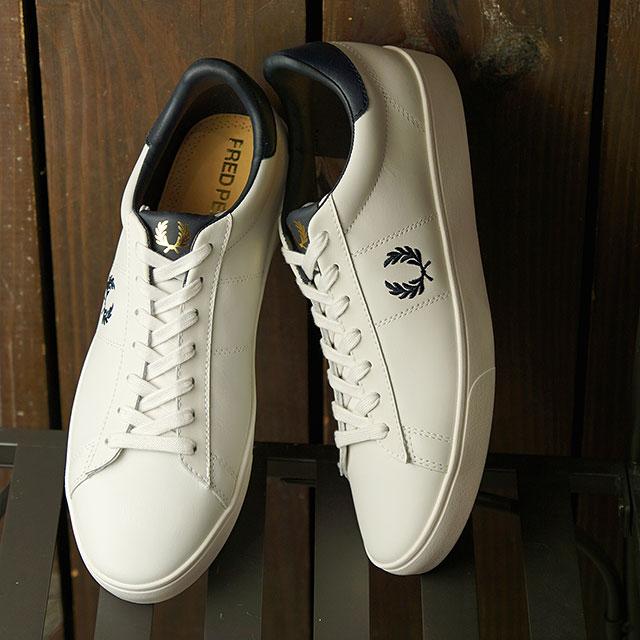 【月間優良ショップ】フレッドペリー FRED PERRY スニーカー スペンサー レザー SPENCER LEATHER (B8250-254 SS20) メンズ・レディース ローカット 靴 PORCELAIN/NAVY ホワイト系