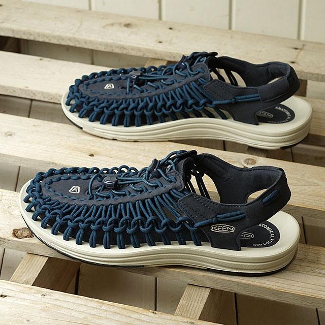 【月間優良ショップ】【限定】KEEN キーン サンダル ユニーク M UNEEK (1023042 SS20) メンズ アウトドア スニーカー 靴 Blue Nights/Silver Birch ネイビー系