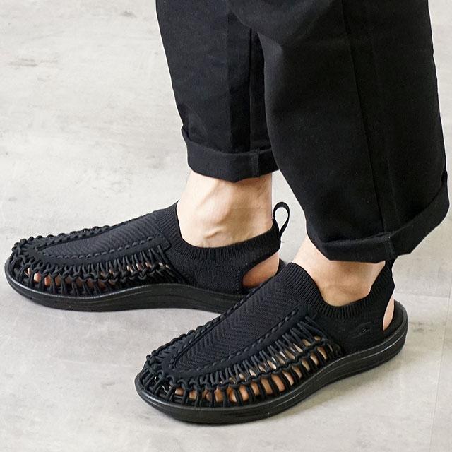 KEEN キーン サンダル ユニーク エヴォ M UNEEK EVO (1023074 SS20) メンズ アウトドア スニーカー 靴 Black/Black ブラック系