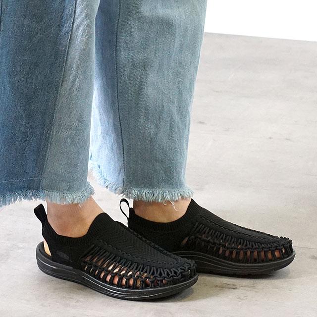 【限定モデル】キーン KEEN レディース ユニーク エヴォ WOMEN UNEEK EVO ソリッドパック サンダル 靴 Black (1023079 SS20)