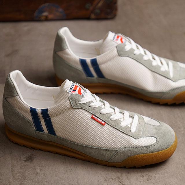 【返品送料無料】パトリック PATRICK スニーカー ブロンクス BRONX (2000-J SS20) メンズ・レディース 日本製 靴 WH/BU ホワイト系