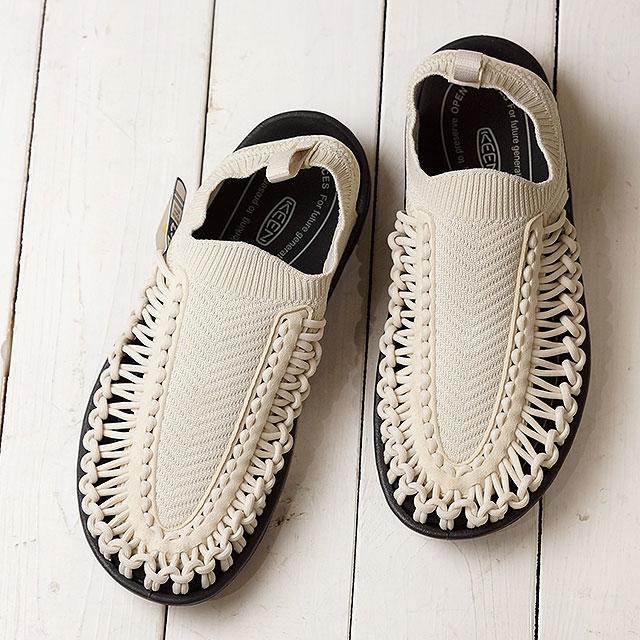 【月間優良ショップ】KEEN キーン サンダル ユニーク エヴォ W UNEEK EVO (1023076 SS20) レディース アウトドア スニーカー 靴 Birch/Black ホワイト系