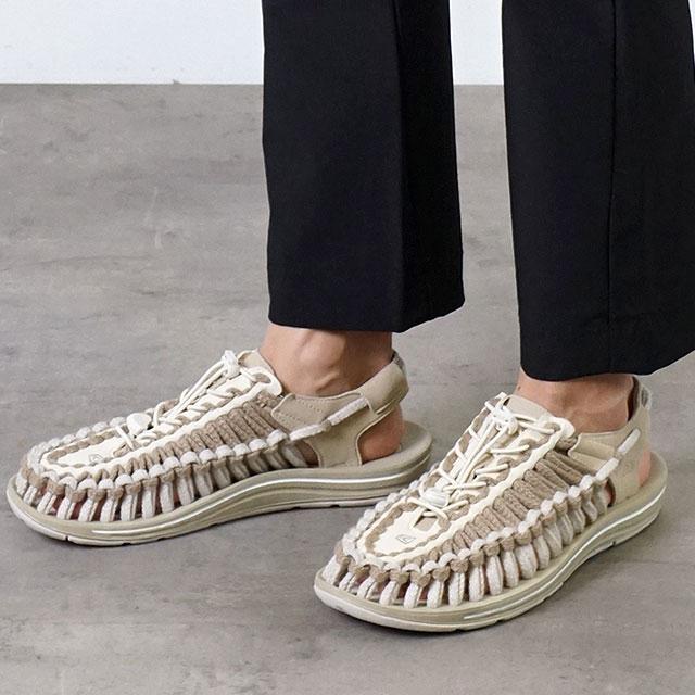【限定】KEEN キーン サンダル ユニーク フラット M UNEEK FLAT (1023063 SS20) メンズ アウトドア スニーカー 靴 Safari/Silver Birch ベージュ系