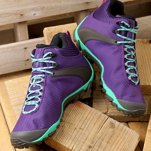 メレル MERRELL スニーカー カメレオン8 ストーム ミッド ゴアテックス M CHAMELEON 8 STORM MID GORE-TEX (034097 SS20) メンズ アウトドア トレッキングシューズ ハイキング 靴 ACAI パープル系