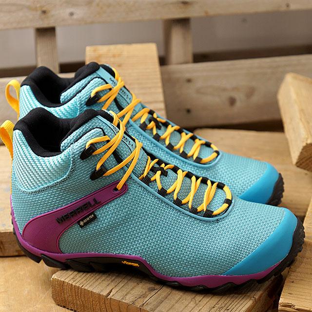 メレル MERRELL スニーカー カメレオン8 ストーム ミッド ゴアテックス M CHAMELEON 8 STORM MID GORE-TEX (034099 SS20) メンズ アウトドア トレッキングシューズ ハイキング 靴 BUTTON ブルー系