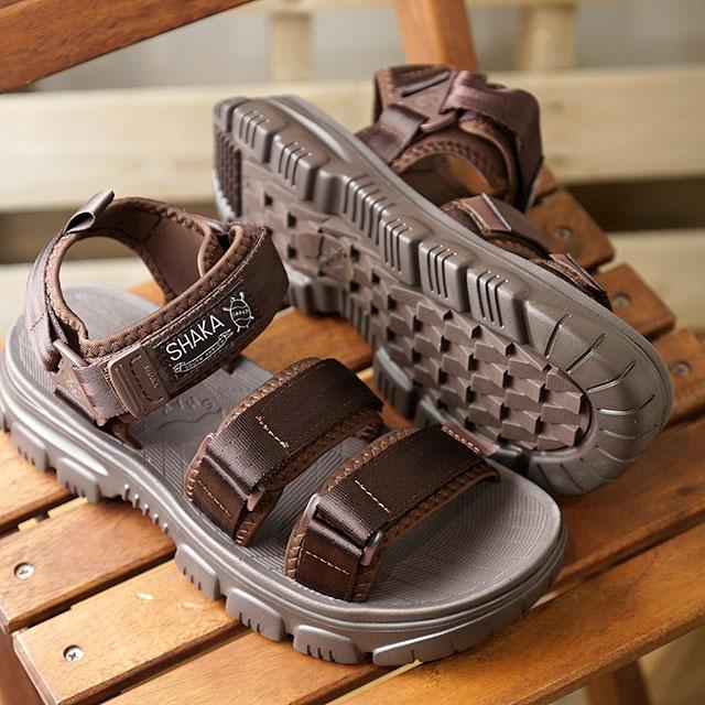 シャカ SHAKA サンダル ネオ バンジー AT NEO BUNGY AT (433146 SS20) メンズ・レディース スポーツサンダル シューズ 靴 DARK BROWN ブラウン系【ts】