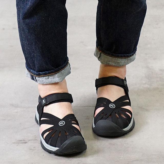 【サイズ交換無料】キーン ローズサンダル 靴 KEEN Rose Sandal Black/Neutral WMN ウォーターシューズ サンダル 靴 ウィメンズ Gray(1008783)