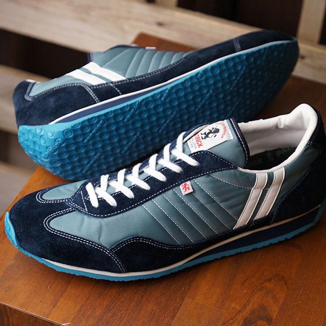 【返品送料無料】【復刻カラー】パトリック PATRICK スニーカー スタジアム STADIUM (23512 SS20Q2) メンズ・レディース 日本製 靴 SQUASH ブルー系